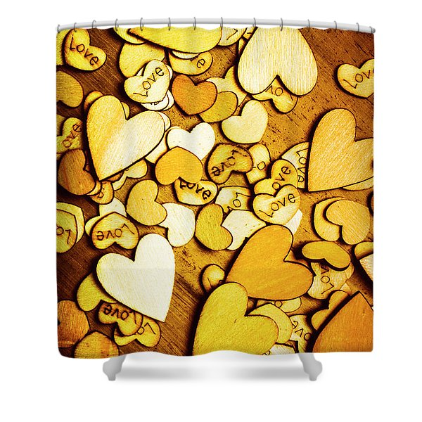 Shabby Love Artwork Shower Curtain
