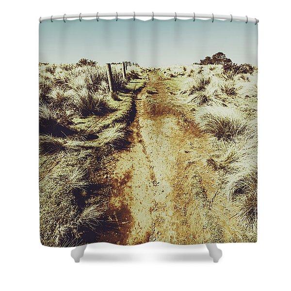Shabby Outback Path Shower Curtain