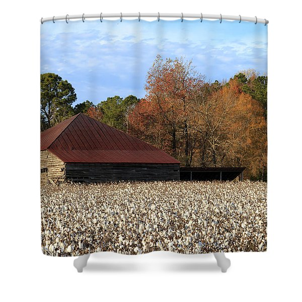 Shack In The Field Shower Curtain