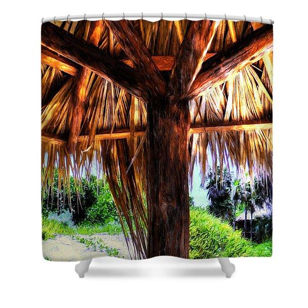 Shade On The Beach Shower Curtain