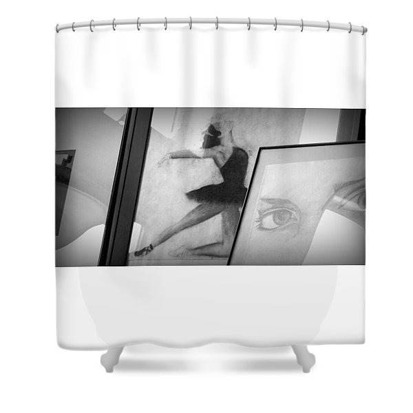 Shades Of Black Shower Curtain
