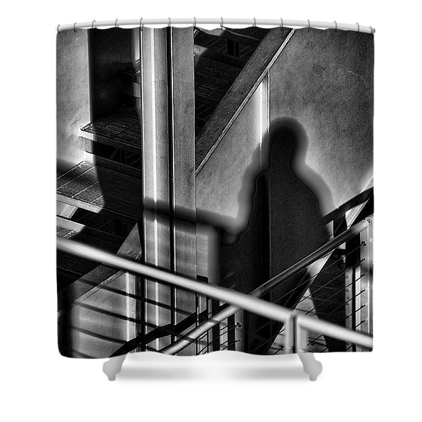 Shadow Man Shower Curtain