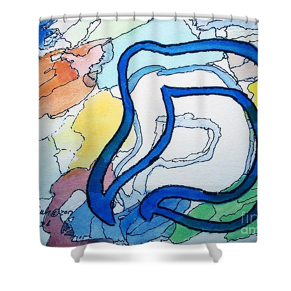 Shadow Mem Shower Curtain