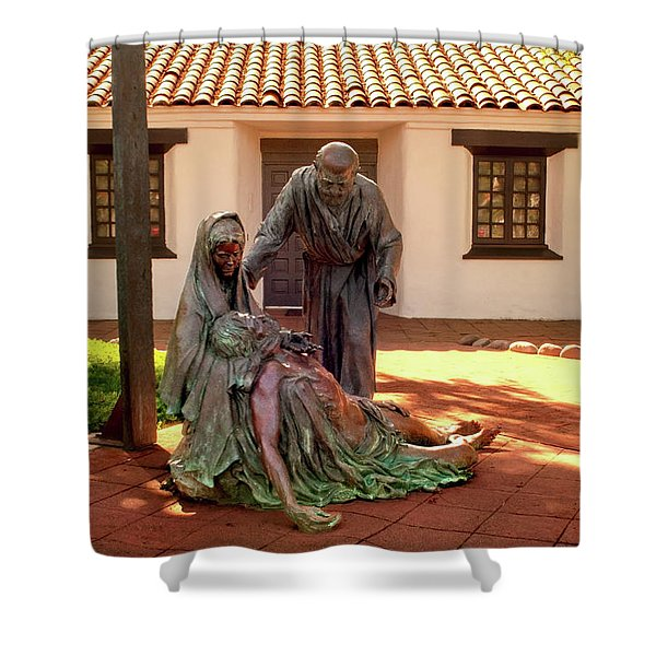 Shadow Of The Cross Detail Shower Curtain