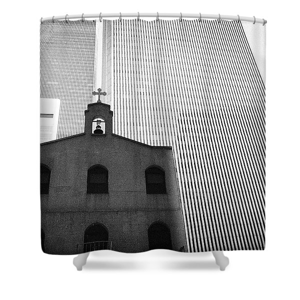 Shadow Of World Trade Center Shower Curtain