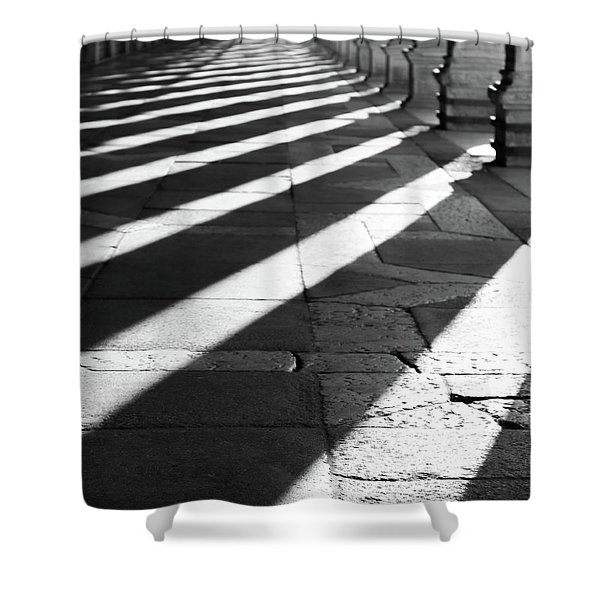 Shadow Play - Venice, Italy Shower Curtain