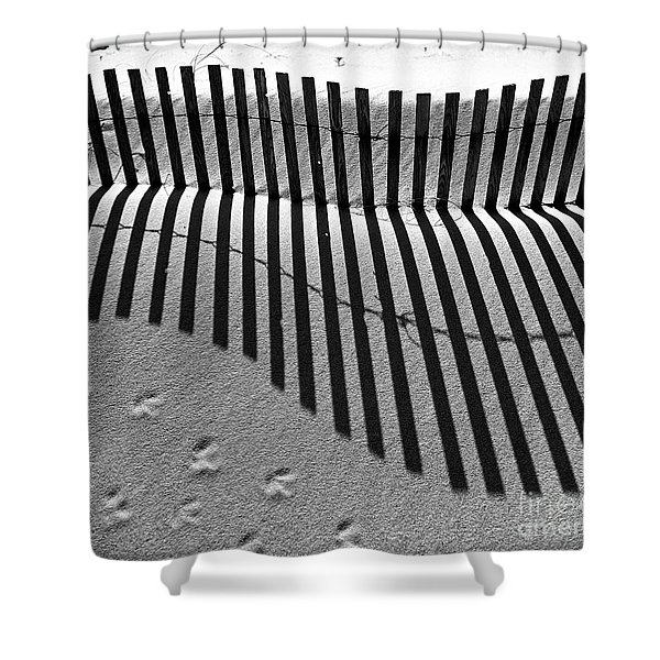Shadows In The Sand Shower Curtain