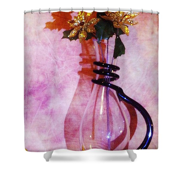 Shadows Of Gold Shower Curtain