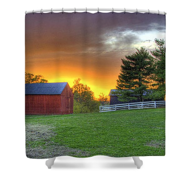 Shaker Animals At Sunset Shower Curtain