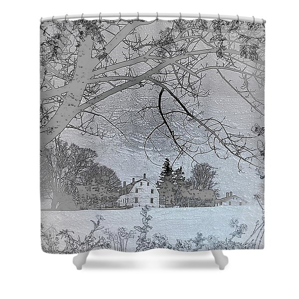 Shaker Winter II Shower Curtain