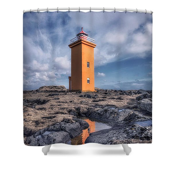 Shallows Of The Golden Shoreline Shower Curtain