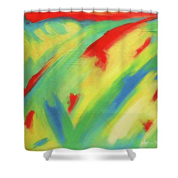 Shaman Rises Shower Curtain