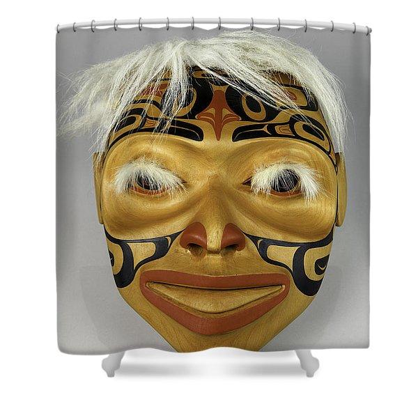 Shaman's Mask Shower Curtain