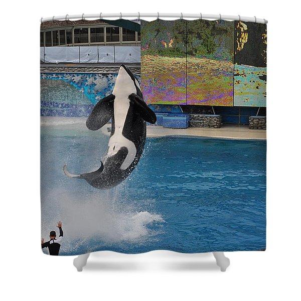 Shamu Splash Shower Curtain