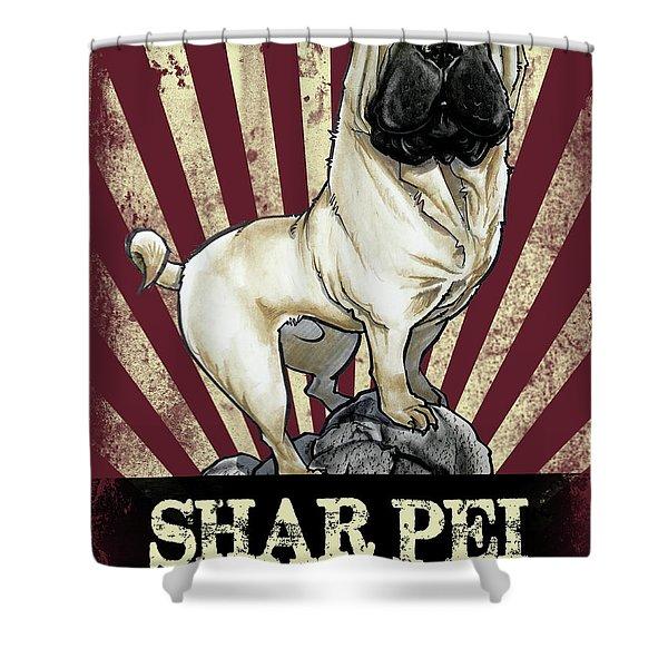 Shar Pei Revolution Shower Curtain