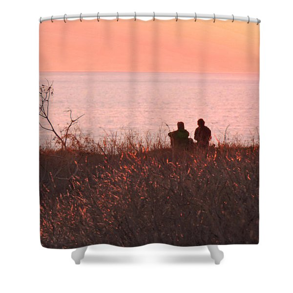 Sharing Tranquility Shower Curtain
