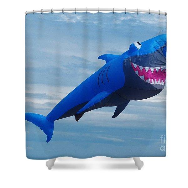 Shark Bite Kite Shower Curtain