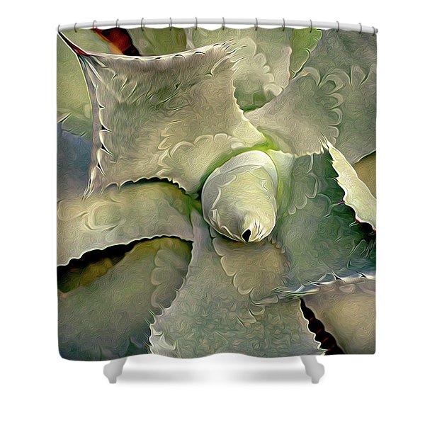 Sharp Embrace 8 Shower Curtain