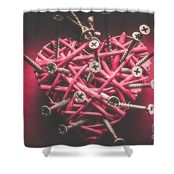 Sharp Pains Of Heartbreak Shower Curtain