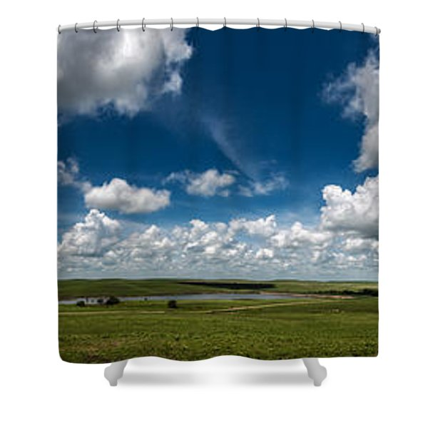 Sharps Creek Road Panorama Shower Curtain