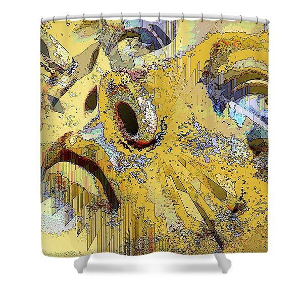 Shattered Illusions Shower Curtain