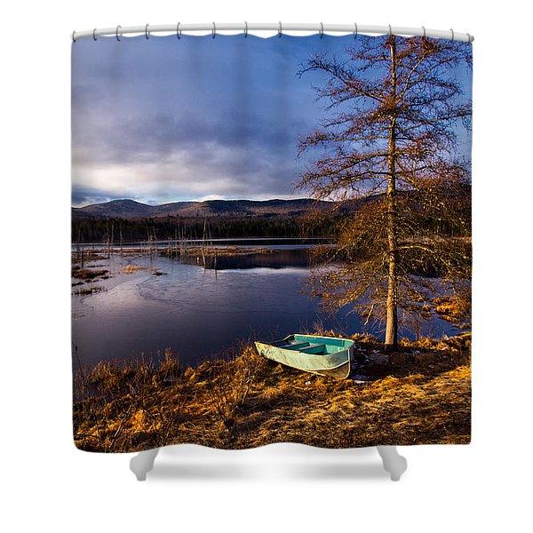 Shaw Pond Sunrise Shower Curtain