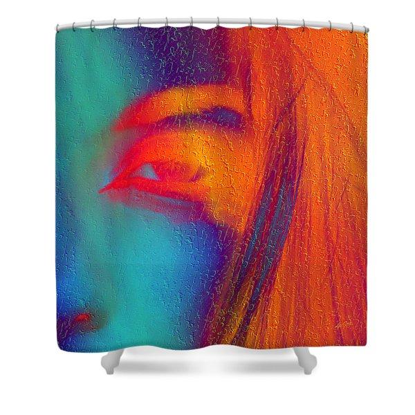 She Awakes Shower Curtain