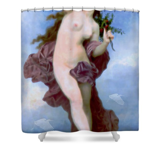 She Dances Into Spring Shower Curtain