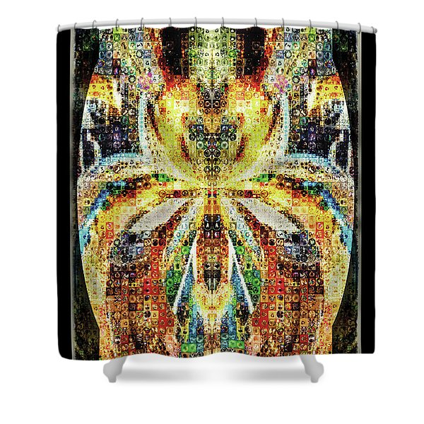 She Is A Mosaic Shower Curtain