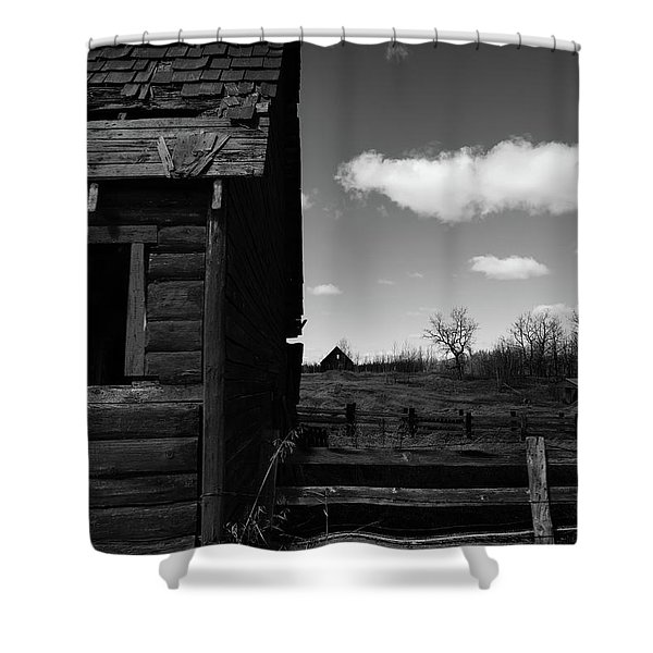 She Is Not Home Shower Curtain