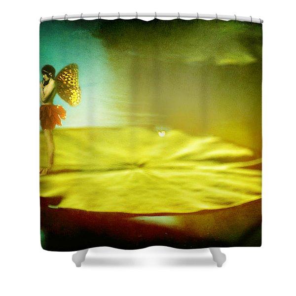 She Listens  Shower Curtain