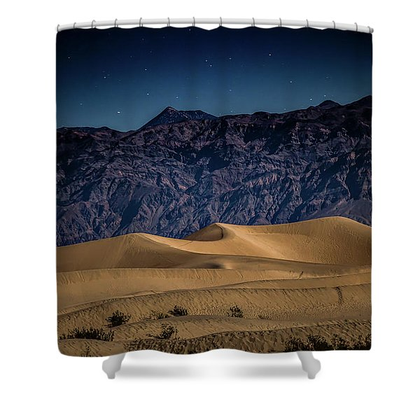 She Sleeps Under The Stars Shower Curtain