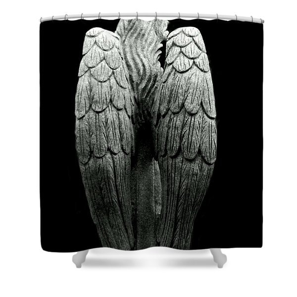 She Talks With Angels Shower Curtain