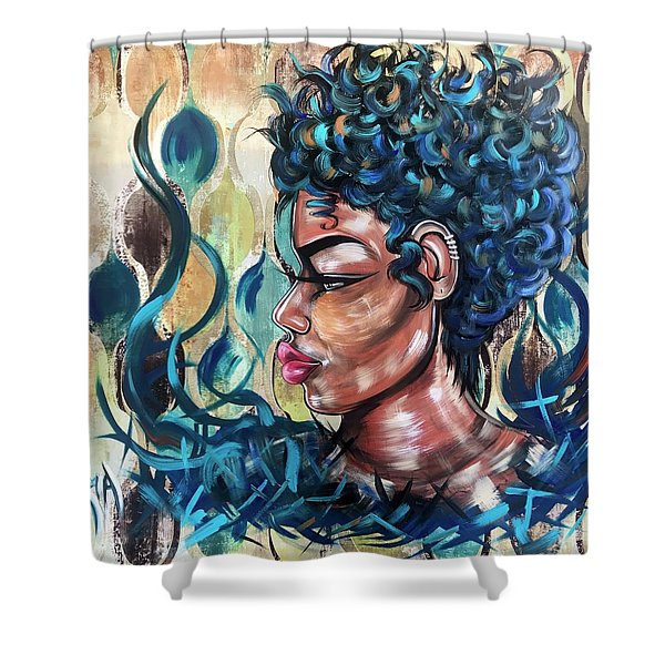 She Was A Cool Flame Shower Curtain