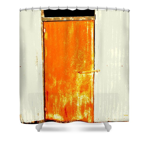 Shearing Shed Door 2 Shower Curtain