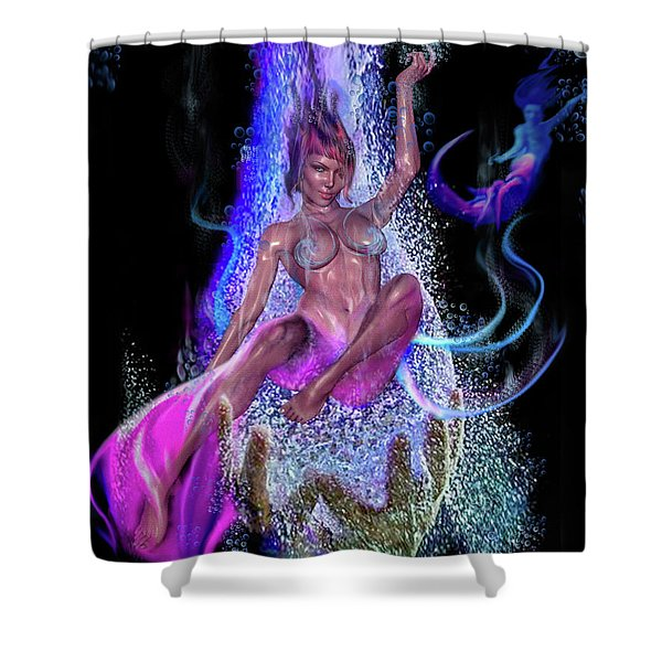 Shed Your Fins Shower Curtain