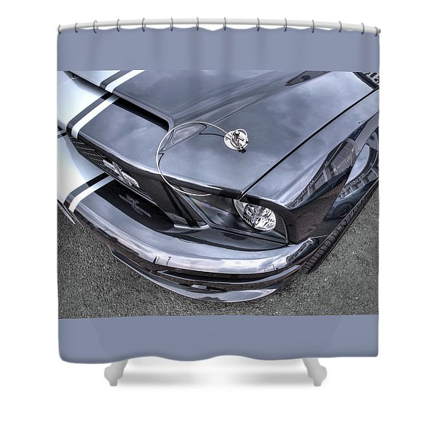 Shelby Super Snake At The Ace Cafe London Shower Curtain