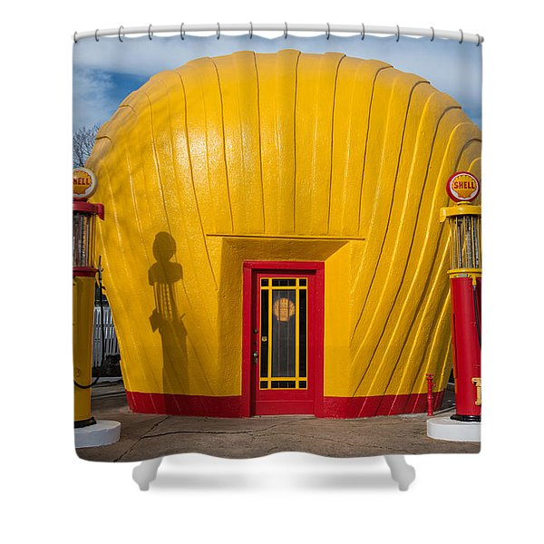Shell Gas Station Shower Curtain