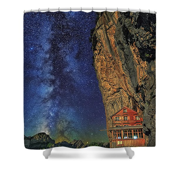Sheltered From The Vastness Shower Curtain