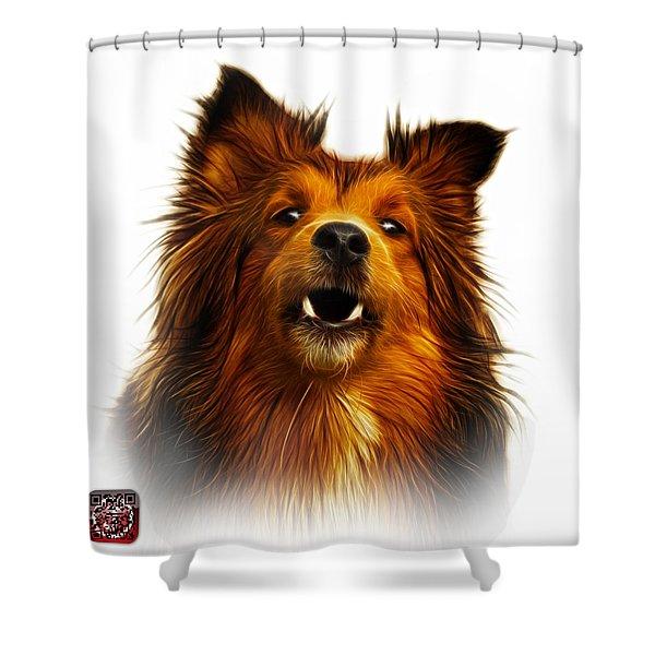 Sheltie Dog Art 0207 - Wb Shower Curtain