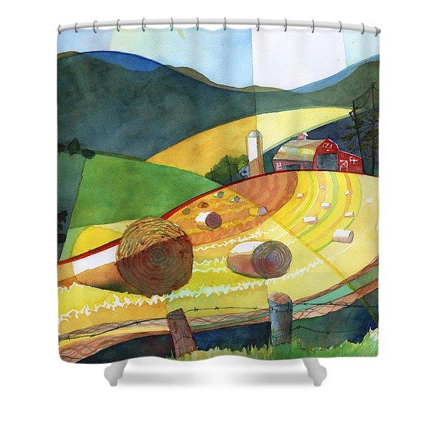 Shenandoah Haystacks Shower Curtain
