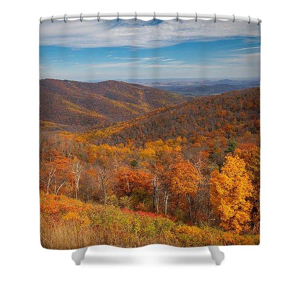 Shenandoah Skyline Shower Curtain