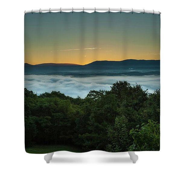 Shenandoah Sunrise Pre-dawn Glow Shower Curtain