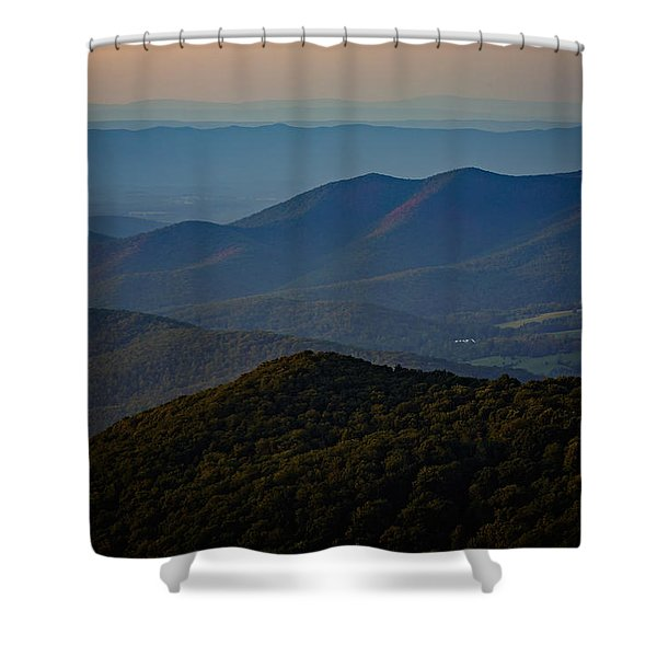 Shenandoah Valley At Sunset Shower Curtain