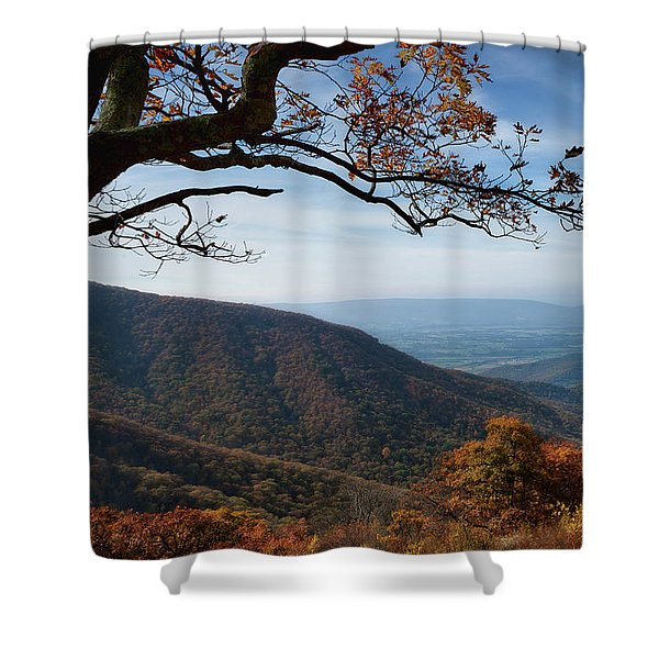 Shenandoah Valley From The Mountain Top Shower Curtain
