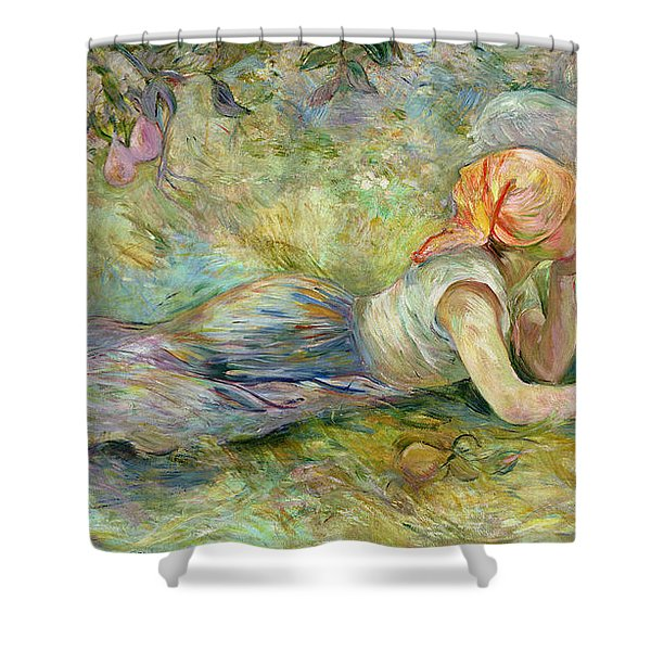 Shepherdess Resting Shower Curtain