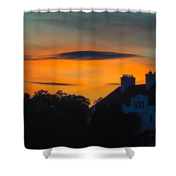 Sherbet Sky Sunset Shower Curtain