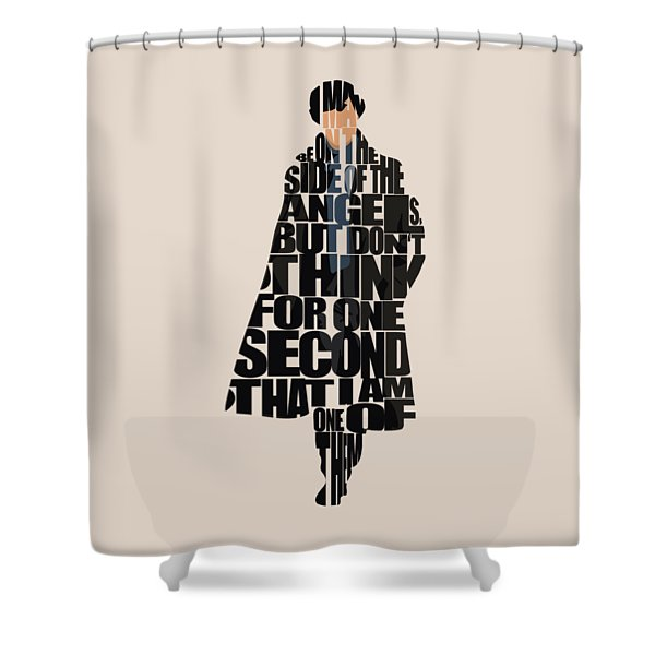 Sherlock - Benedict Cumberbatch Shower Curtain