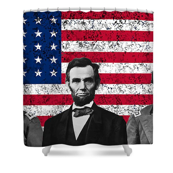 Sherman - Lincoln - Grant Shower Curtain