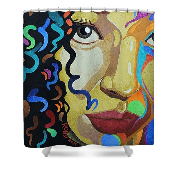She's Complicated Shower Curtain